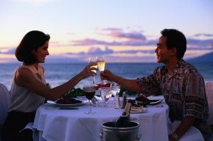 Couple Toasting over an Intimate Dinner