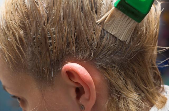 tingir os cabelos