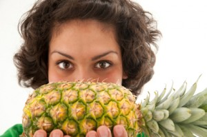 pineapple-and-woman