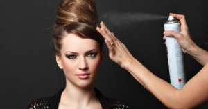 spray de cabelo