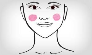 aplicar blush coracao