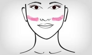 aplicar blush oval