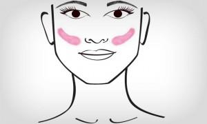 aplicar blush quadrado