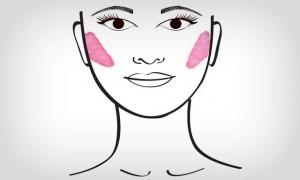 aplicar blush redondo