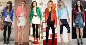 look jaqueta colorida