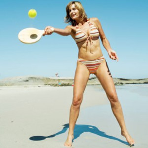 exercícios de praia