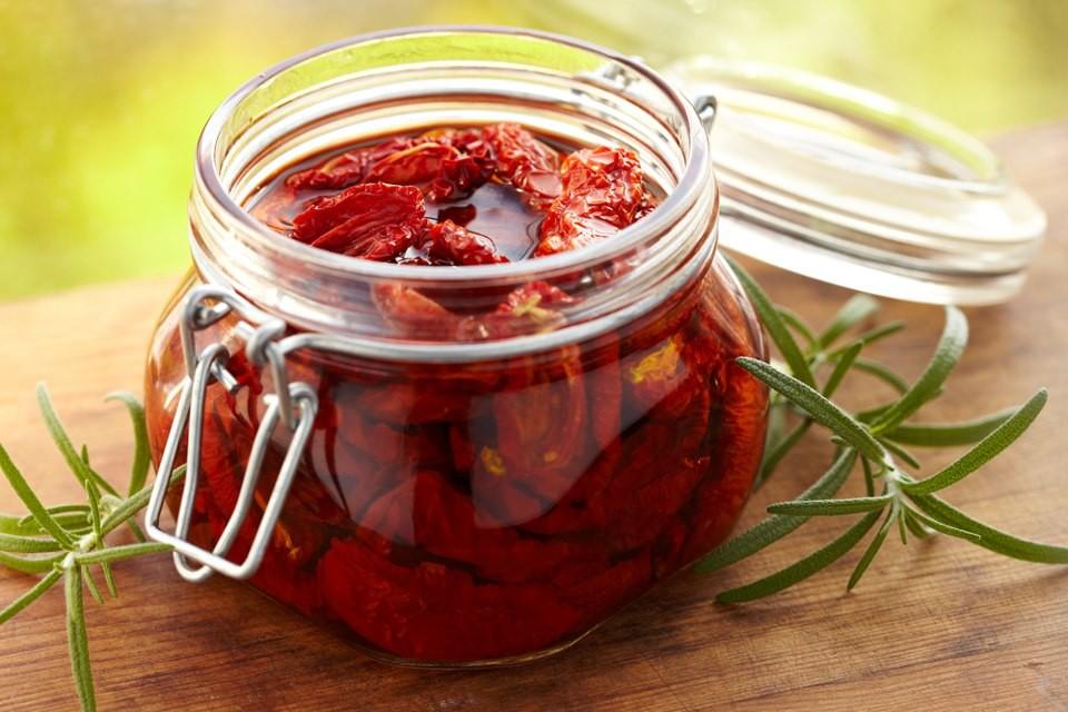 tomate seco no microondas