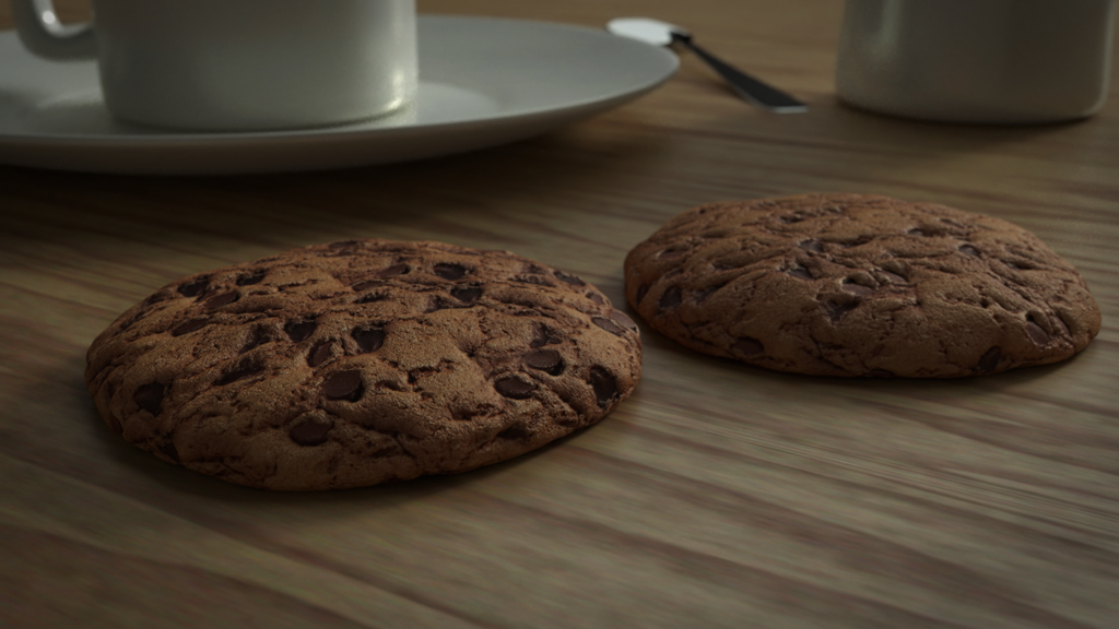cookies de aveia e chocolate