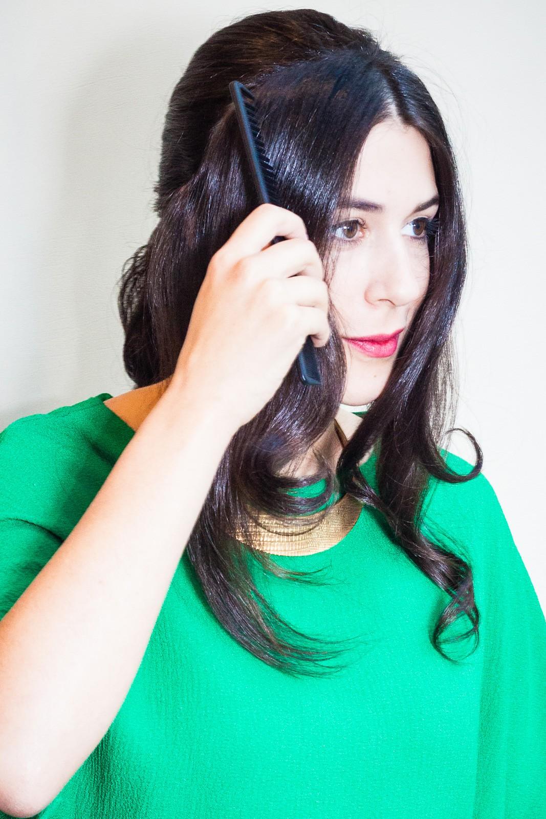 penteado de festa