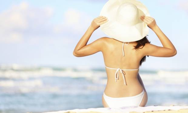 higiene íntima na praia