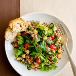 salada de grao de bivo e quinoa