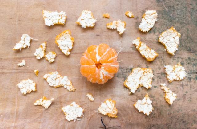 casca de tangerina