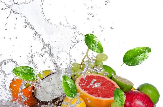 frutas e líquidos