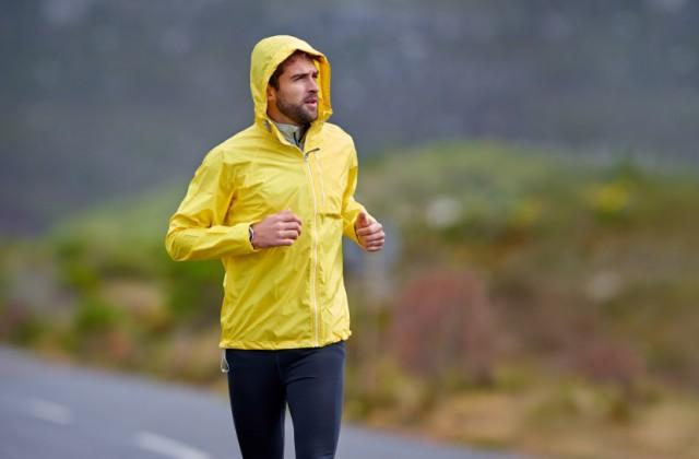 correr na chuva