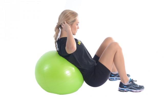 abdominal com bola