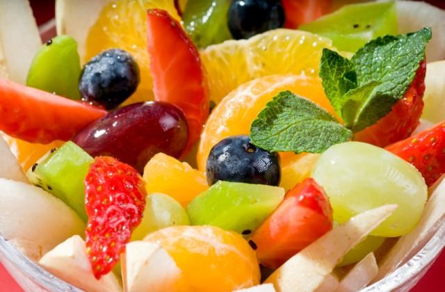 frutas cortadas