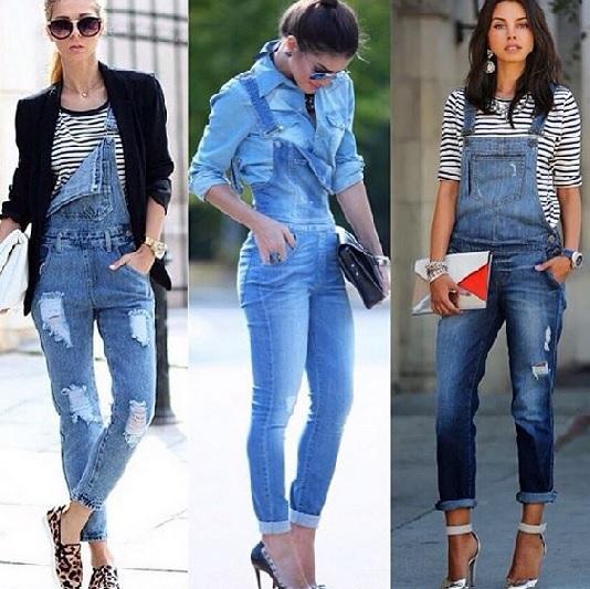 5cfe1f6e61 Jardineira Jeans ganha status fashion. Foto  Instagram