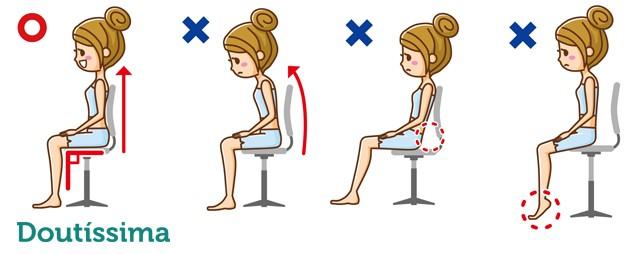 postura correta para sentar doutíssima shutterstock
