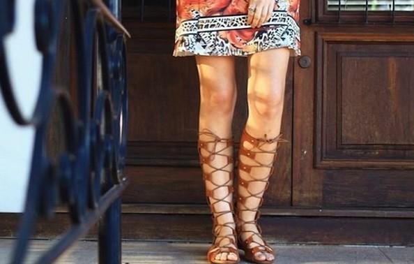 Primavera-Verão 2016 instagram reprodução doutissima sandália gladiadora