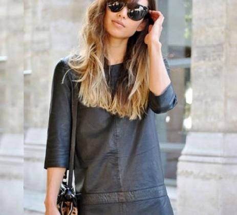vestidos de couro doutíssima instagram reproducao
