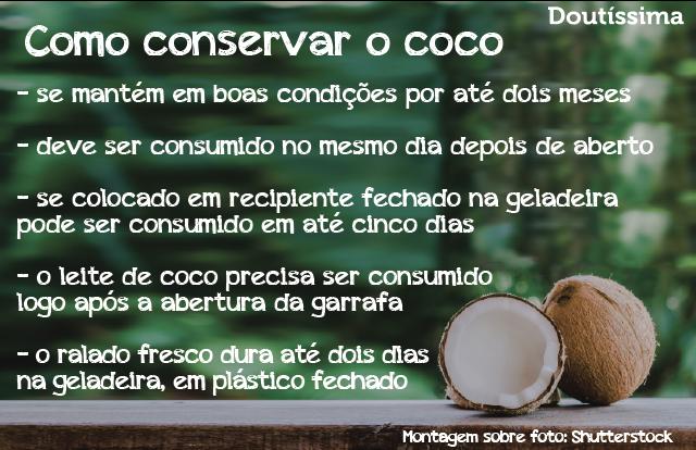 açúcar de coco infográfico doutíssima