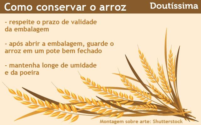 infográfico conservar arroz