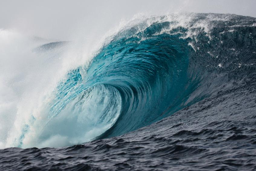 Imagem de ondas gigantes