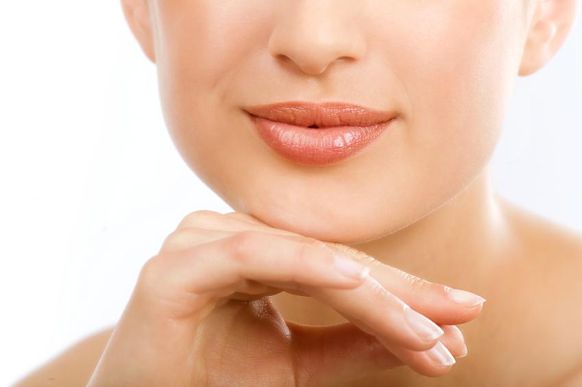 Mulher praticando leitura labial