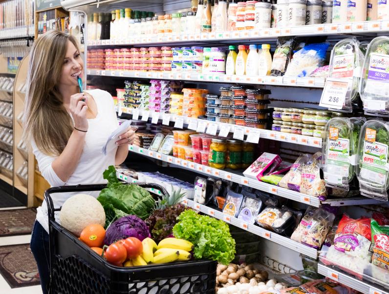 Lista de supermercado nas compras