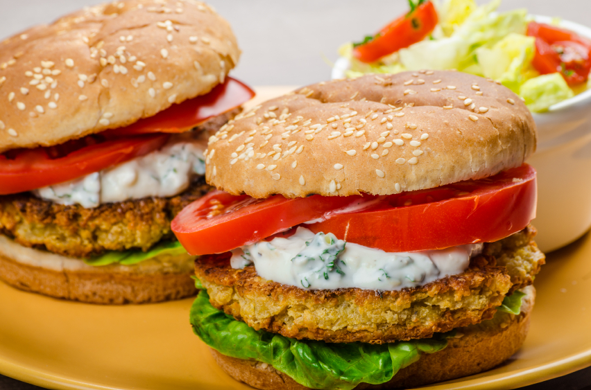 receita vegana de hambúrguer