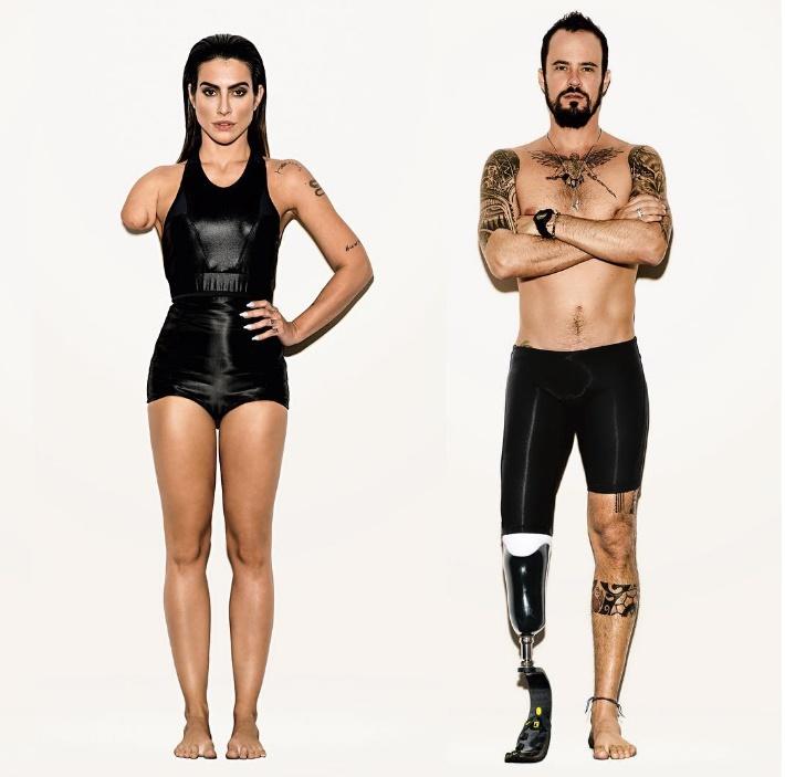 Cléo Pires e Paulo Vilhena em editorial polêmico de atletas paralímpicos (Foto: Instagram)