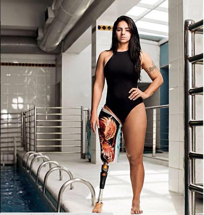Atleta paralímpica Camille Rodrigues para a Playboy (Foto: Instagram)