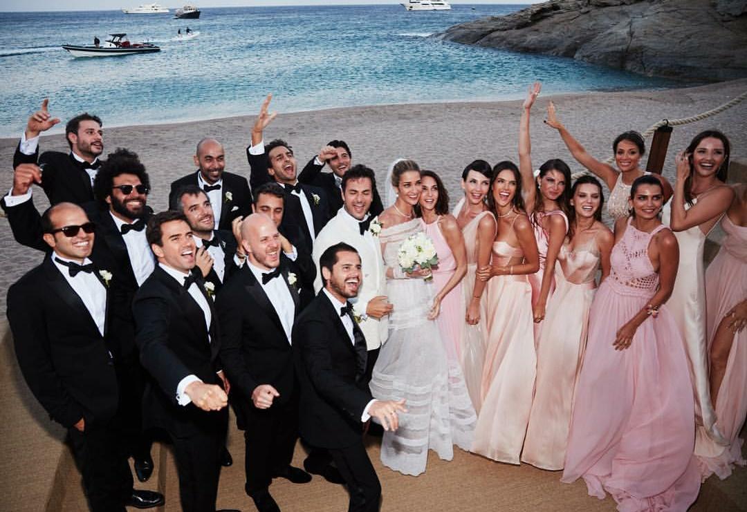 O casamento da top Ana Beatriz Barros em Mikonos (Foto: Instagram)