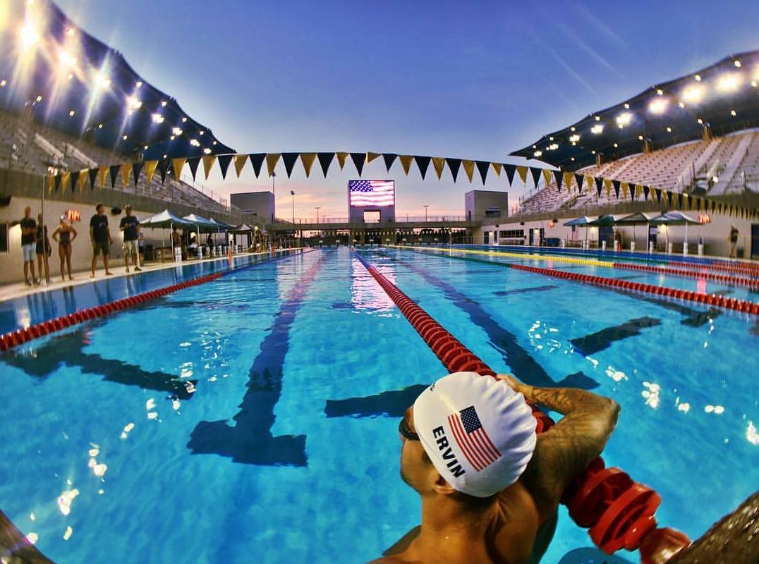 O nadador americano Anthony Ervin, 35 anos, é o mais velho campeão de natação. (Foto: Instagram)