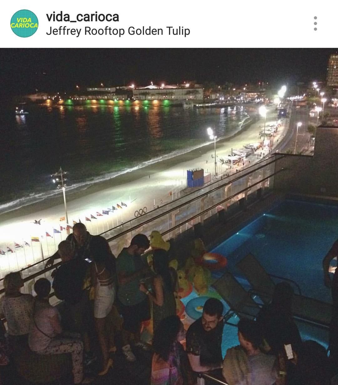 Rooftop da Jeffrey (Foto: Instagram)