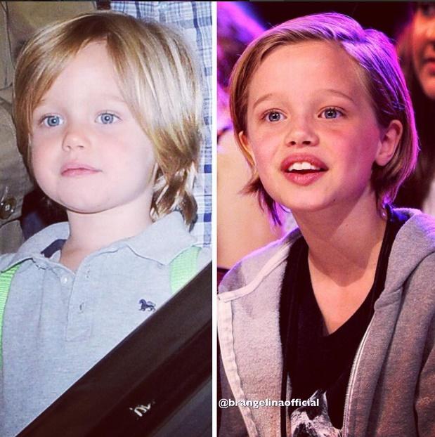 Shiloh, filha de Angelina Jolie e Brad Pitt, exibe um visual característico de menino e pede para ser chamada de John. (Foto: Instagram)