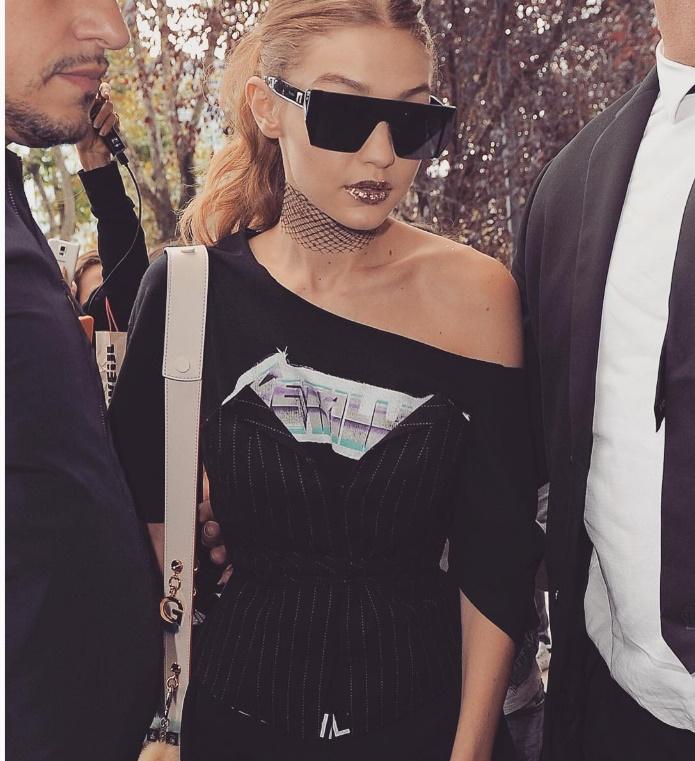 A modelo Gigi Hadid não pensou duas vezes e reagiu ao sofrer assédio em Milão. (Foto: Instagram)