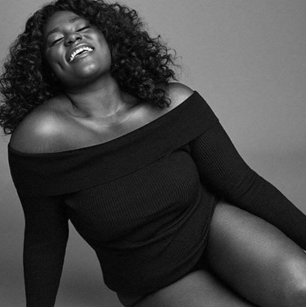 A atriz Danielle Brooks, de Orange is the now black, mostra a beleza da mulher plus size. (Foto: Instagram).